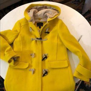 J Crew wool toggle raincoat